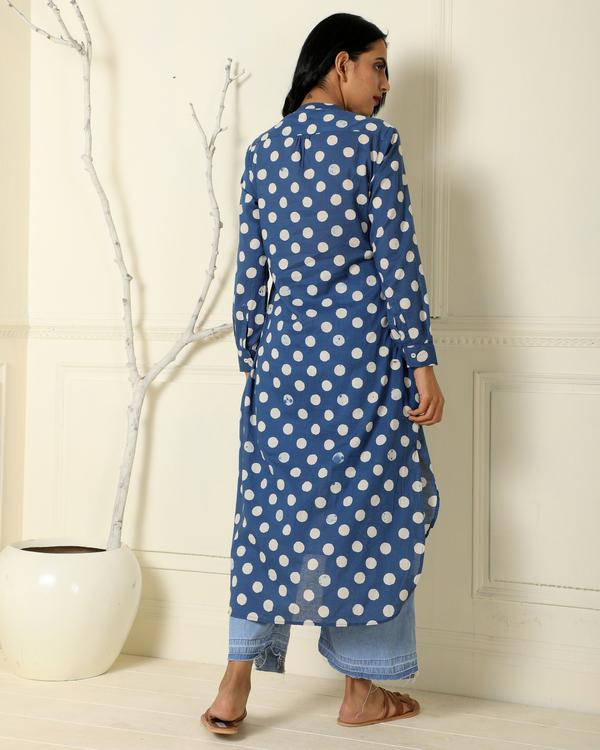 Indigo classic polka dot print  tunic 1