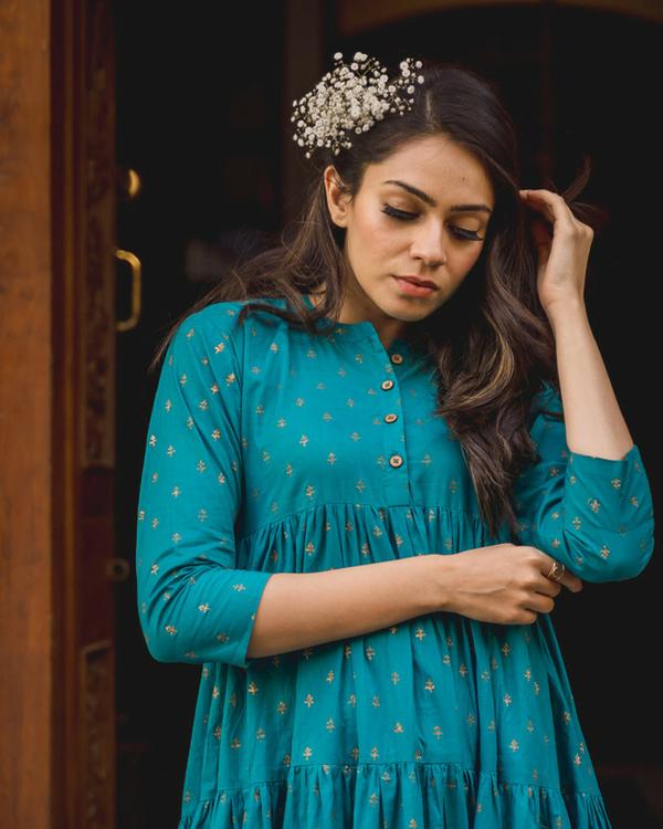 Firozi cotton sharara dress 1