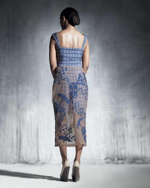Cobalt blue tulle skirt 1