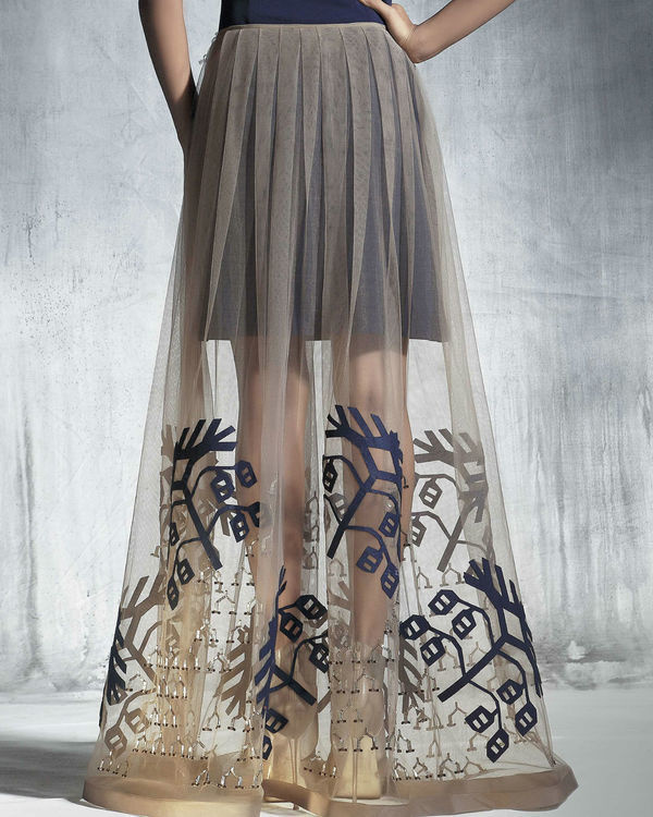 Organza flared skirt 1