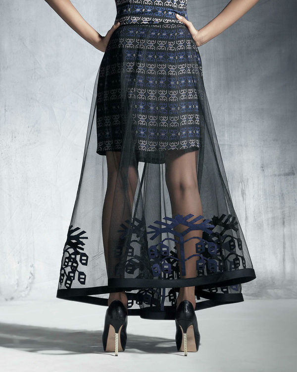 Silk organza circular skirt 1