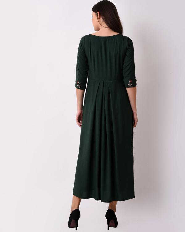 Green floral maxi dress 1
