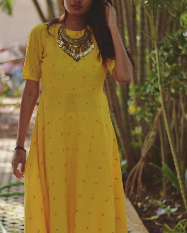 Yellow asymmetric dress 1