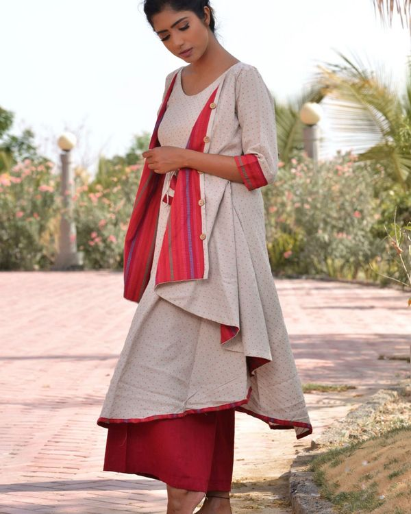Ethnic jacket kurta with palazzo 2
