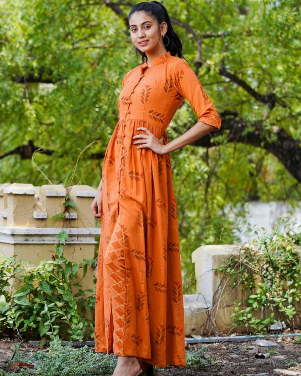 Rusted orange boota cape with pants - set of two 1