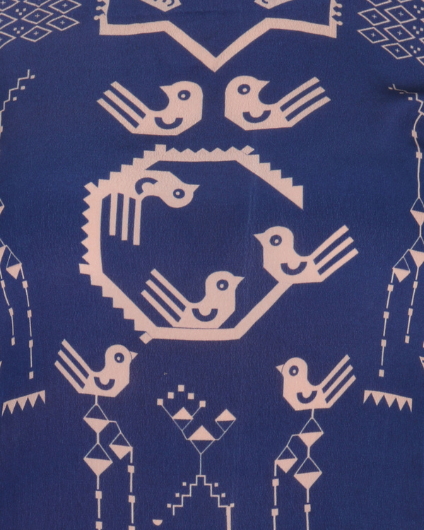 Kurta with patiala set in blue and peach 3