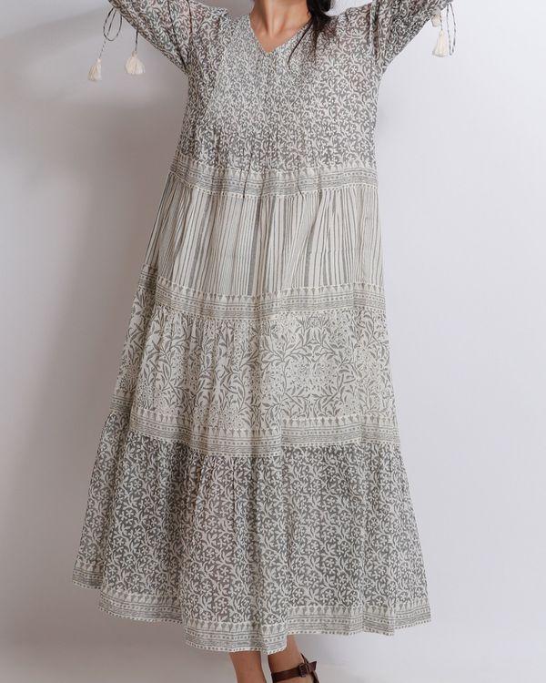 Liliac grey tiered dress 2