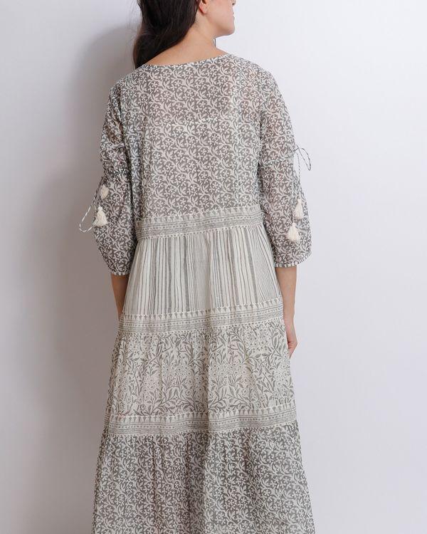Liliac grey tiered dress 1