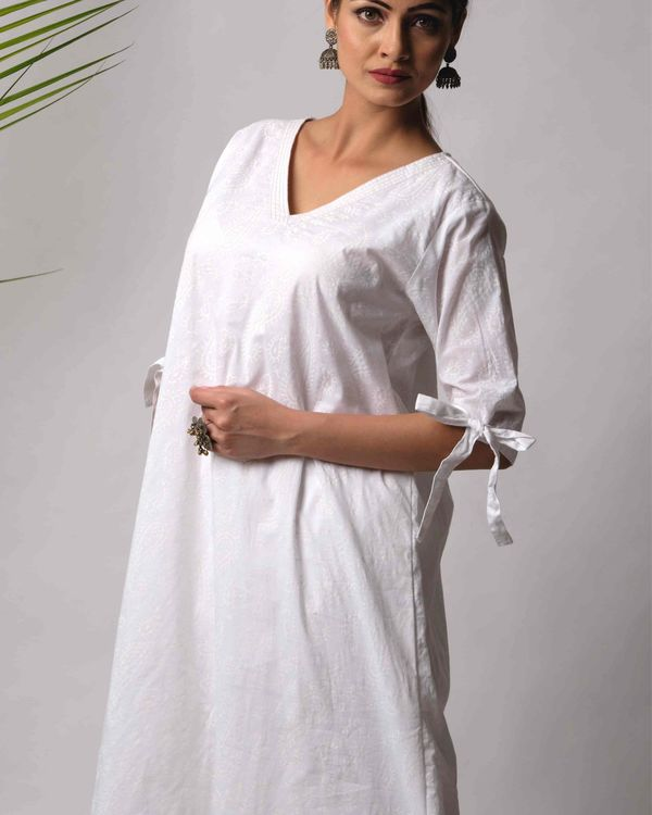 Ruma cotton kurta and pant -set of two 2