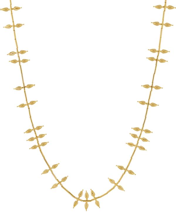 Jasmine bud-shaped gold plated necklace 2