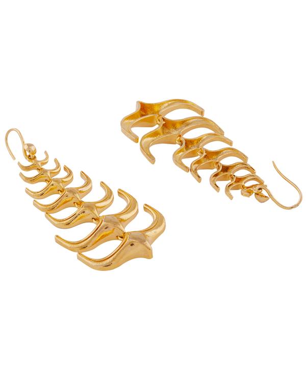 Trendy spikes hanging earrings 3