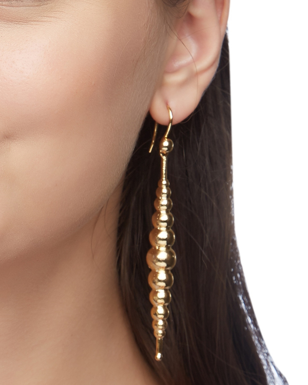 Bubble shape layered earrings 1