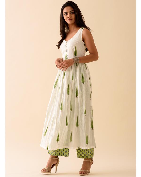 Green leaf printed kurta 2