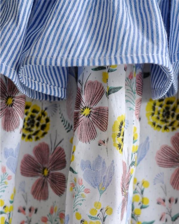 Layered Floral Umbrella Dress 3