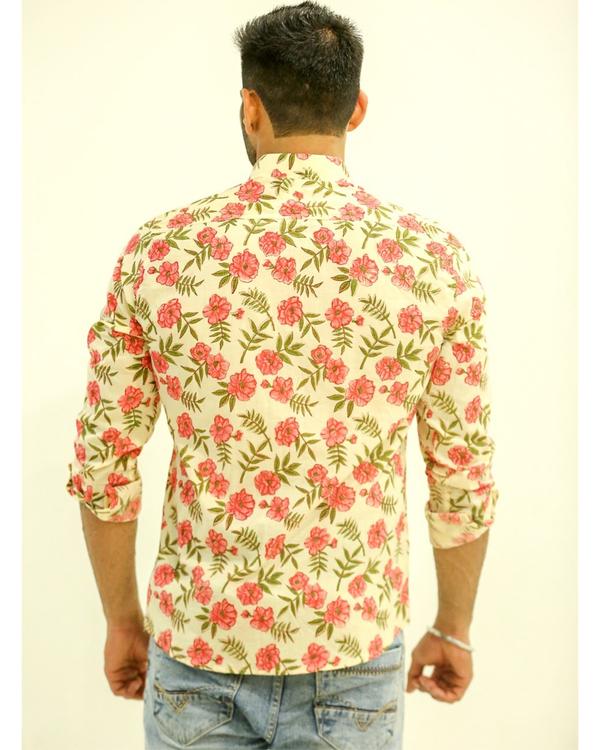 Cream Floral Printed Shirt 2