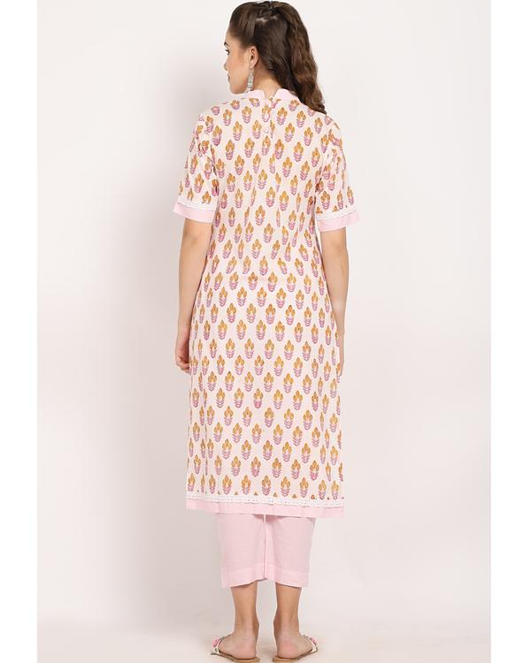 Blush pink bandgala suit- set of two 4