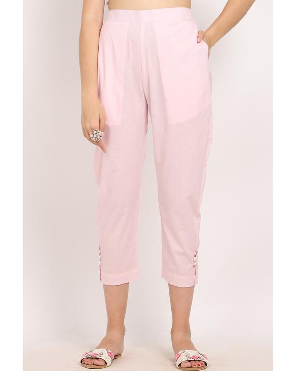 Blush pink bandgala suit- set of two 3