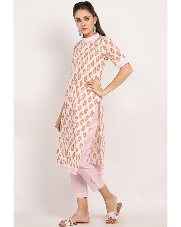 Blush pink bandgala suit- set of two 2