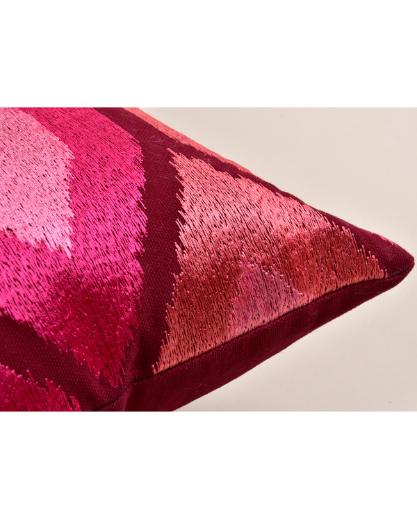 Khiva red cotton cushion cover 2