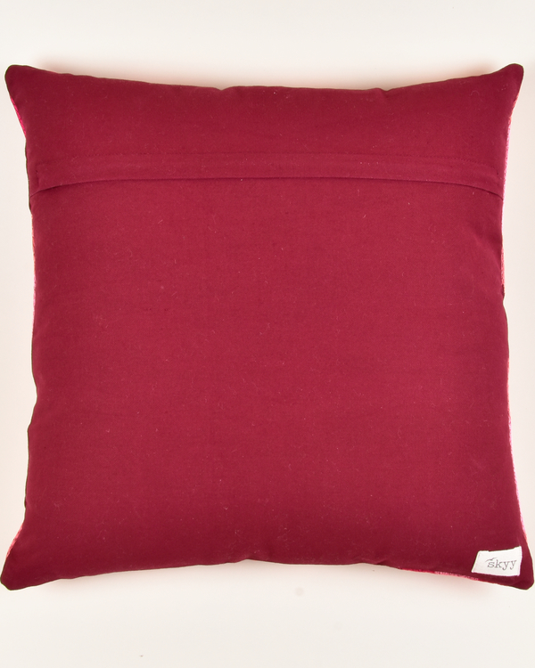 Khiva red cotton cushion cover 1