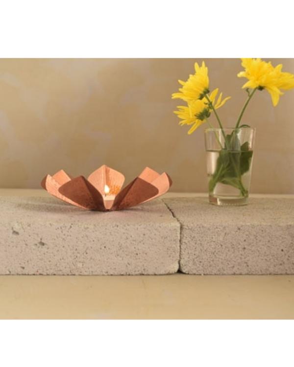 Sepiole copper tea light holder 2