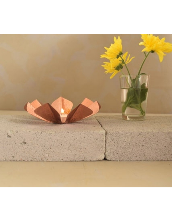 Sepiole copper tea light holder 1