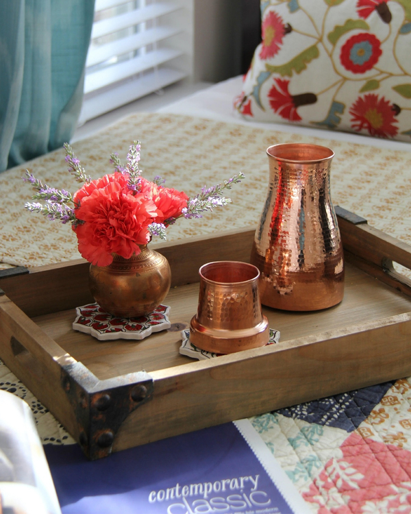 Copper bedside carafe 2