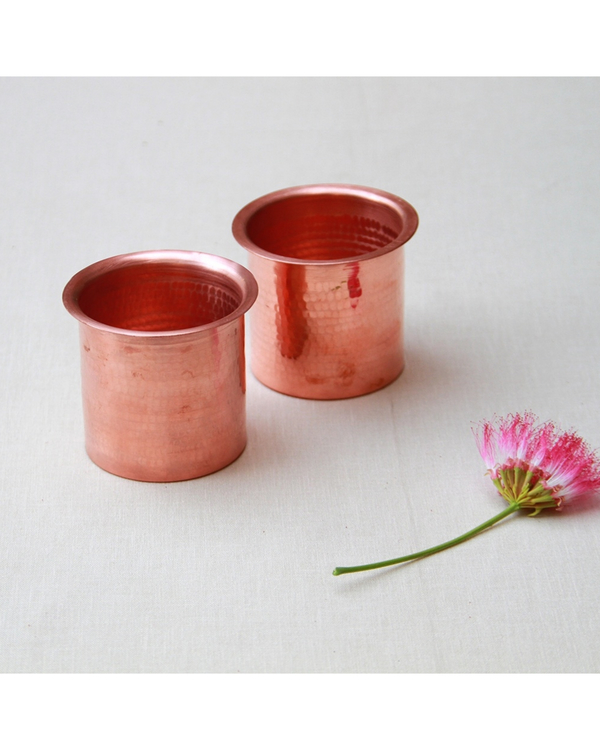 Copper linear tumblers - set of two 1