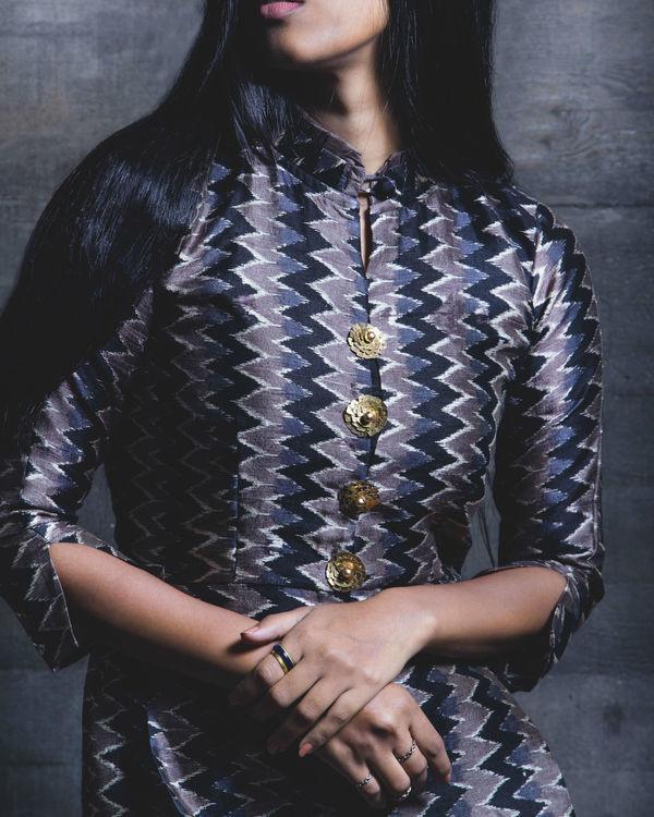 Charcoal shirt dress 2