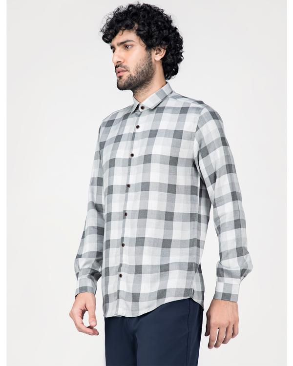 Grey and white gingham checkered shirt 2