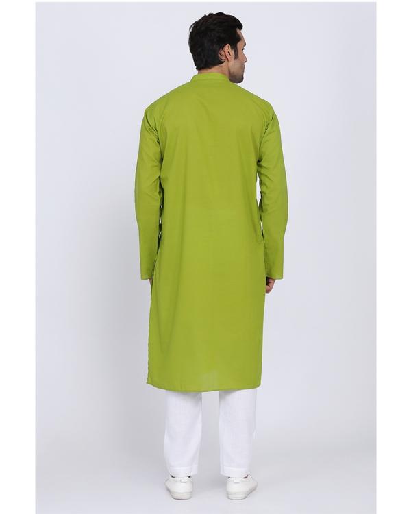 Lawn green cotton kurta 2
