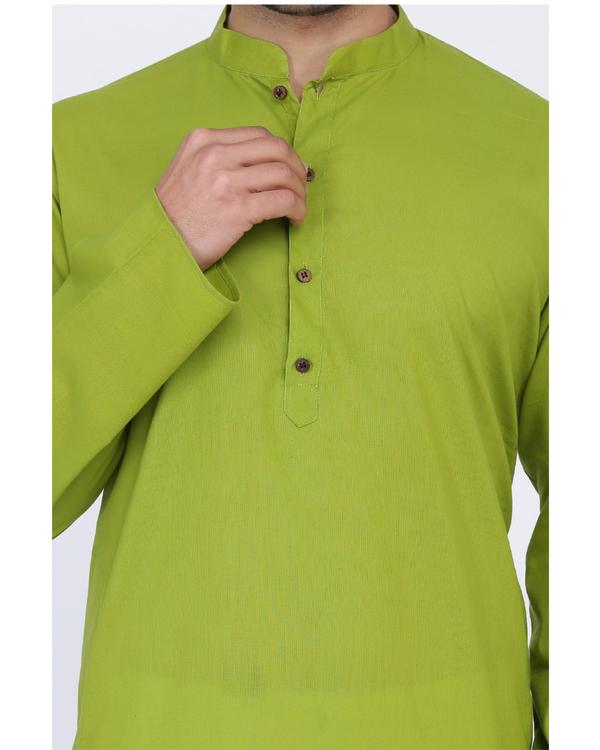 Lawn green cotton kurta 1