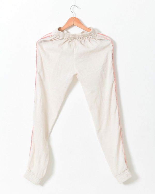 White contrast detailed pants 2