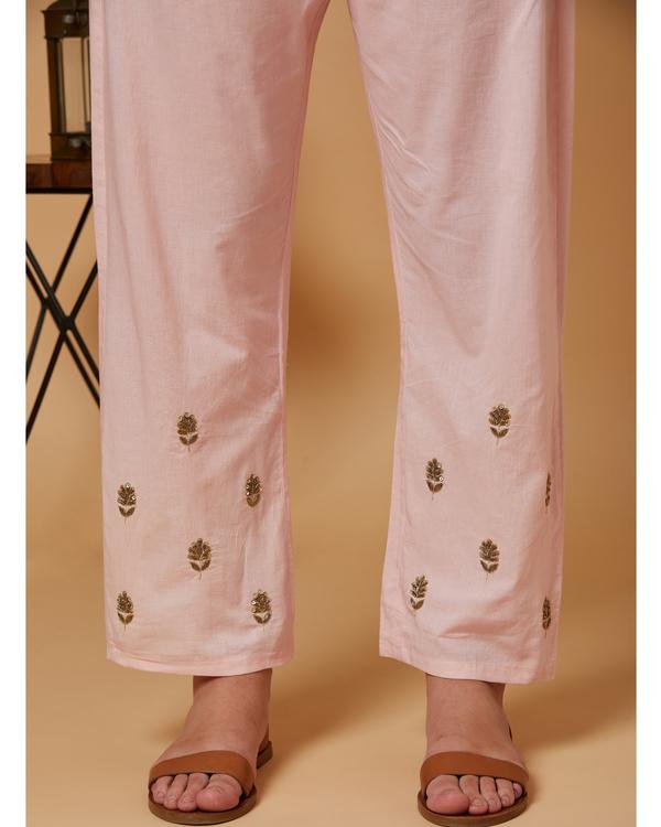 Pink floral boota pants 1