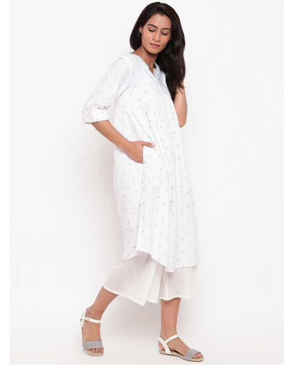 White printed cotton kurta 2