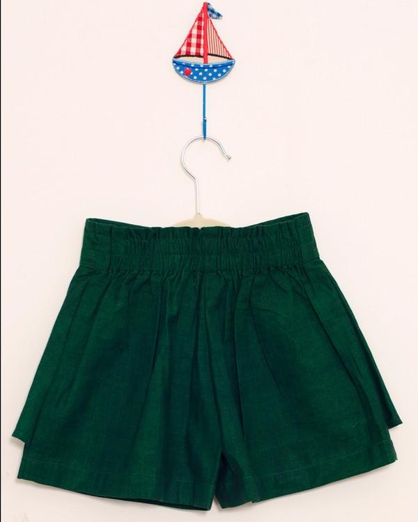 Forest green divided skirt 2