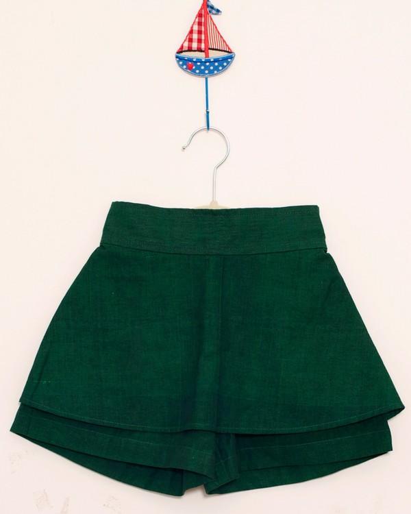 Forest green divided skirt 1