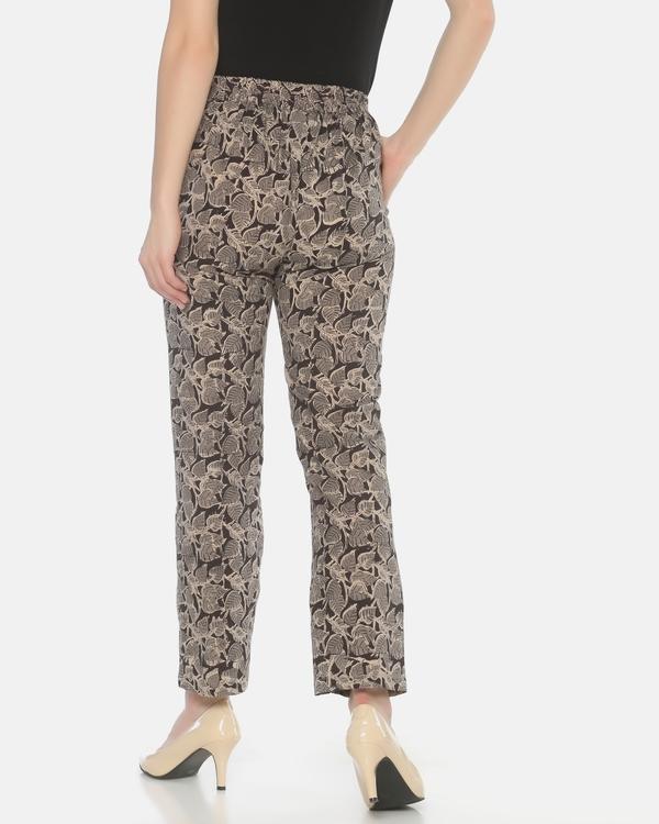 Black and grey kalamkari pants 2