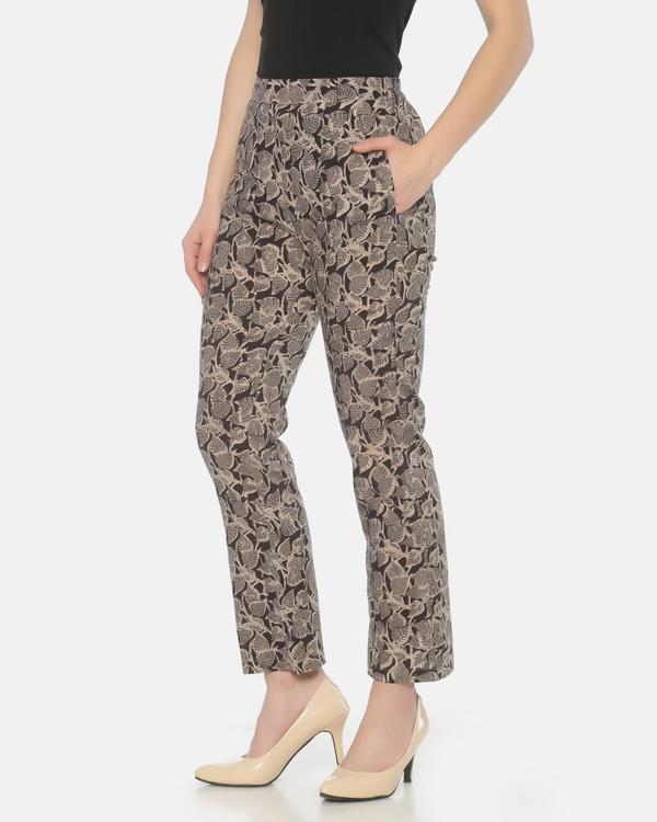 Black and grey kalamkari pants 1