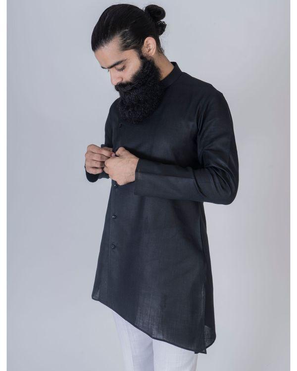 Black short asymmetrical kurta 2