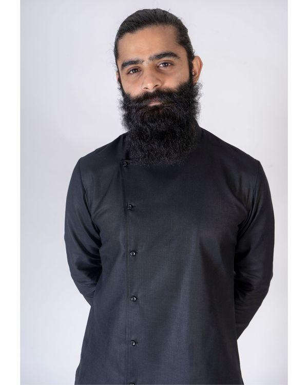 Black short asymmetrical kurta 1