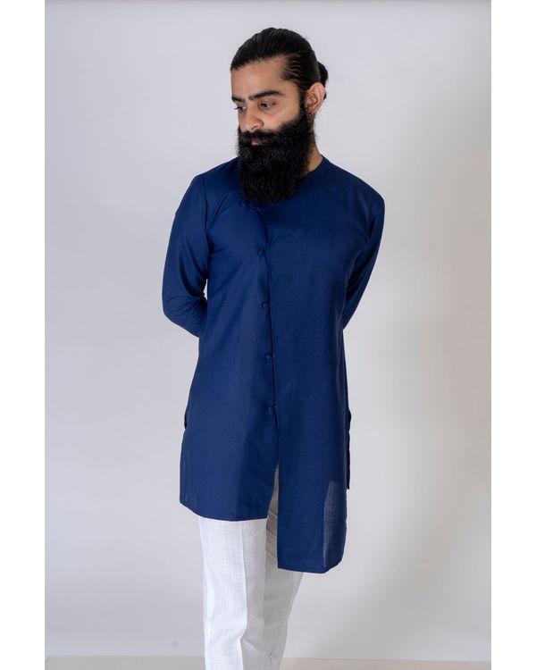 Blue asymmetrical kurta 2