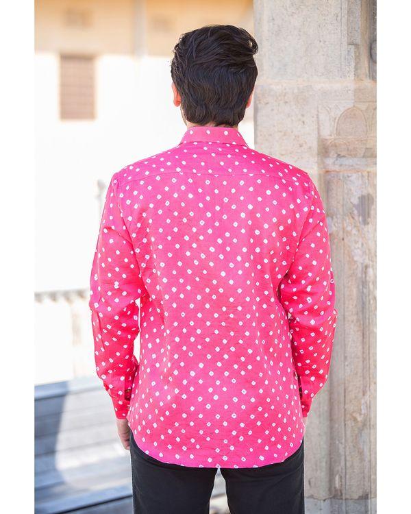 Pink bandhani printed shirt 2
