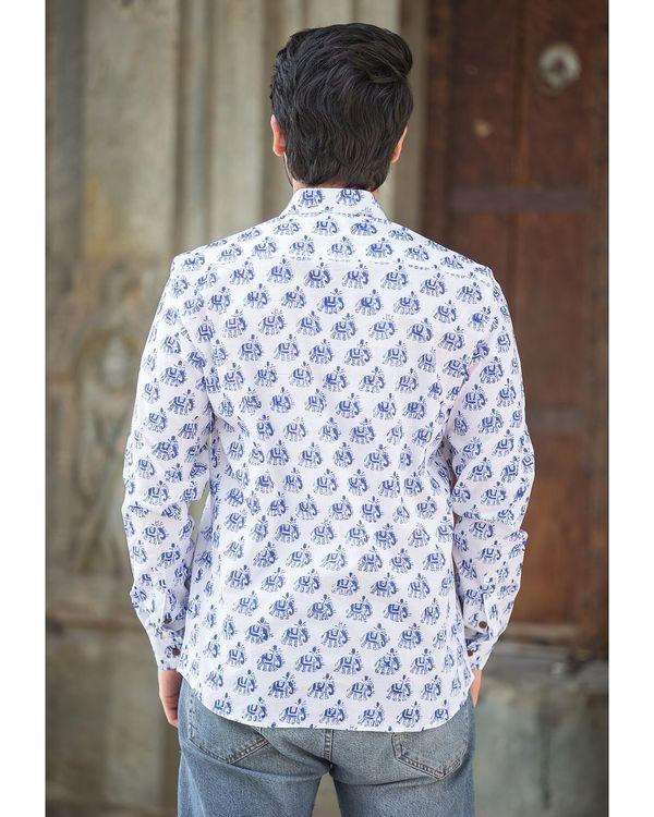White elephant printed shirt 2