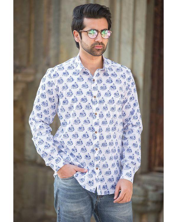 White elephant printed shirt 1