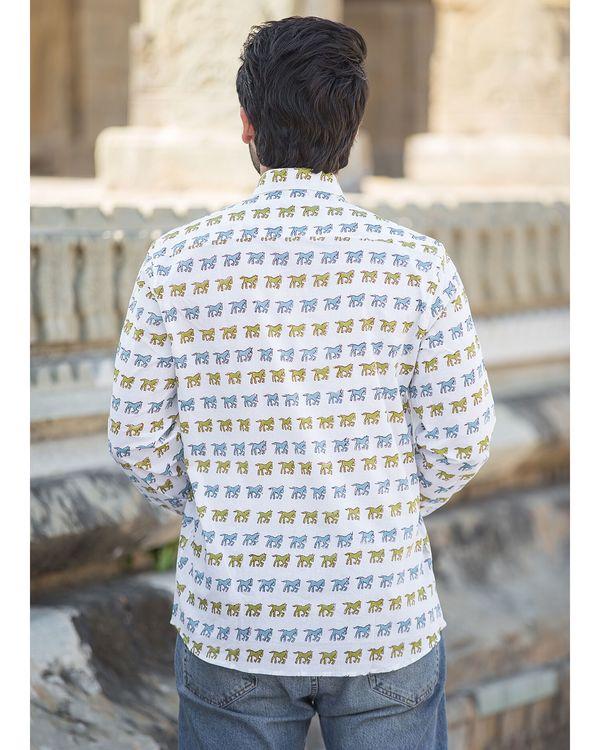 White horse printed shirt 2
