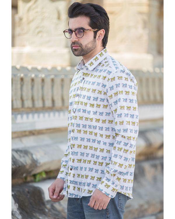 White horse printed shirt 1