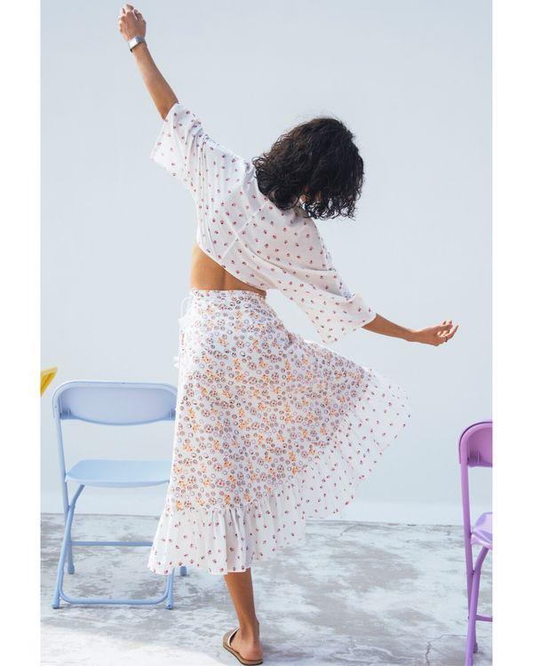 Jasmine printed wrap on skirt 2