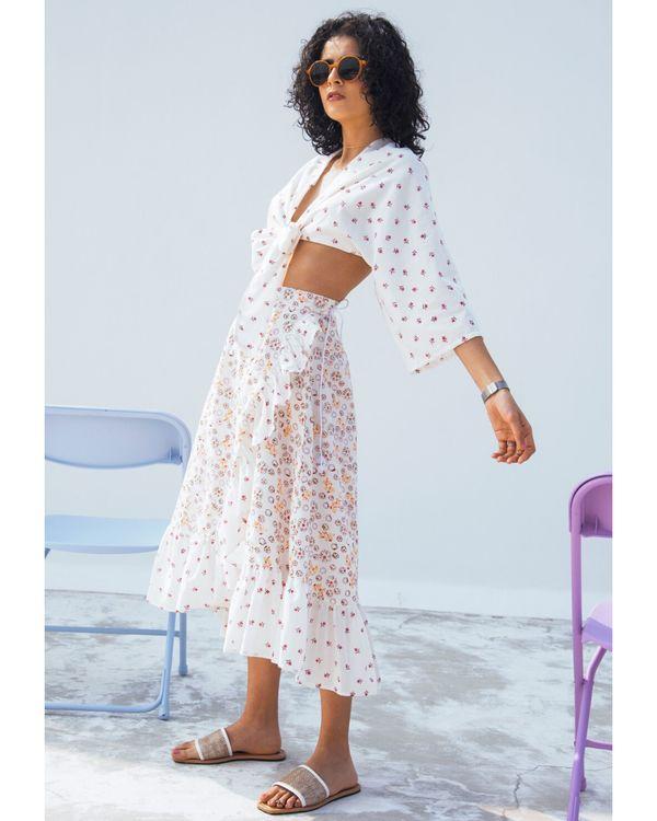Jasmine printed wrap on skirt 1