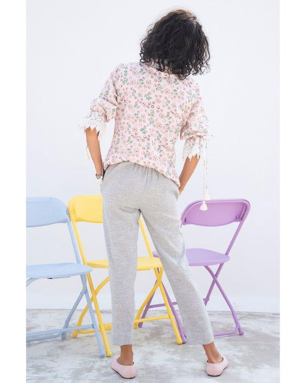 Grey straight pants 1